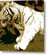 Striking Tiger Metal Print