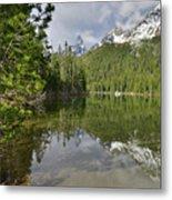 String Lake Teton Reflection Metal Print