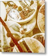 String Of Buttons Metal Print