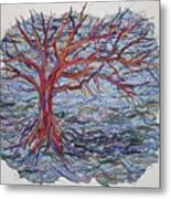String Tree - Growing By A Thread Metal Print
