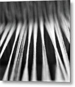 Strings In A Loom Metal Print