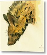 Striped Hyena Animal Art Metal Print