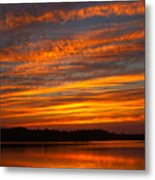 Striped Sunset Metal Print
