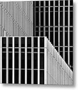 Stripes And Windows Metal Print