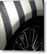 Stripey Wheels Metal Print