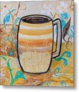 Stripped Mug Metal Print
