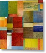 Strips And Pieces L Metal Print