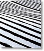 Stripy Land Metal Print