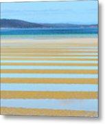 Stripy Shores Metal Print