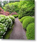 Stroling Garden Path In Japanese Garden Metal Print