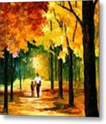 Stroll In The Forest Metal Print