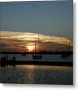 Strolling In The Sunset Metal Print