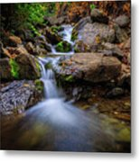 Strongs Canyon Cascades Metal Print