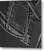 Structure - Center For Brain Health - Las Vegas - Black And White Metal Print