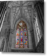 Structures Of St. Patrick Cathedral Bw Metal Print