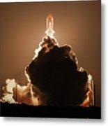 Sts-128 Night Launch Metal Print