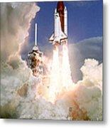 Sts-27, Space Shuttle Atlantis Launch Metal Print