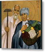 Sts. Isidore And Maria - Rliam Metal Print