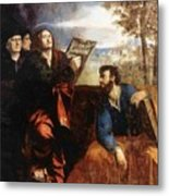 Sts John And Bartholomew With Donors 1527 Metal Print