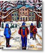 L'art De Mcgill University Tableaux A Vendre Montreal Art For Sale Petits Formats Mcgill Paintings  Metal Print