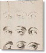 Studies Eyes Anonimo, Blooteling Abraham Metal Print