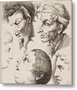 Studies Of Heads Anonimo, Blooteling Abraham Metal Print