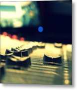 Studio Moments - Faders Metal Print