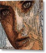 Studio Portrait In Pencil  Metal Print
