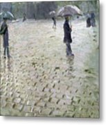Study For A Paris Street Rainy Day Metal Print by Gustave Caillebotte