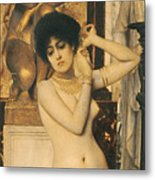 Study For Allegory Of Sculpture Metal Print