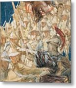 Study For The Coming Of The Americans , John Singer Sargent Metal Print
