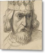 Study For The Head Of A Counsellor Metal Print