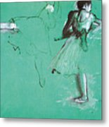 Study For Two Dancers At The Bar Metal Print