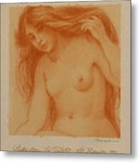 Study From La Toilette After Renoir Metal Print
