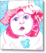 Study In Blue And Pink Metal Print