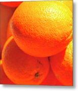 Study In Orange Metal Print