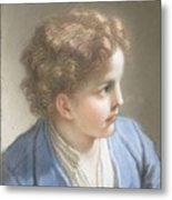 Study Of A Boy In A Blue Jacket , Benedetto Luti Italian, Florence 1666-1724 Rome Metal Print
