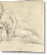 Study Of A Female Nude  Metal Print