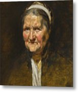 Study Of An Old Woman Metal Print
