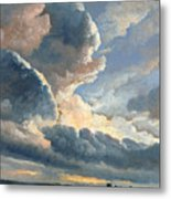 Study Of Clouds With A Sunset Near Rome Metal Print