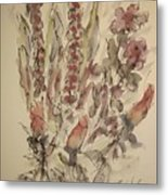 Study Of Flowers S Metal Print