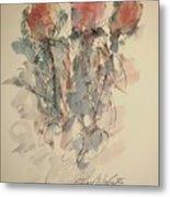 Study Of Flowers U Metal Print