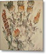 Study Of Flowers V Metal Print