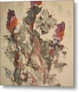 Study Of Flowers Y Metal Print