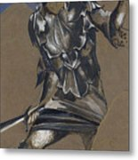 Study Of Perseus In Armour For The Finding Of Medusa Metal Print