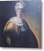 Study Of Rembrant Man In Turban Metal Print