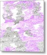 Study Purple And Gray Metal Print