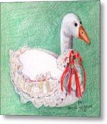 Stuffed Goose Metal Print
