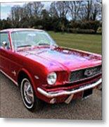 Stunning 1966 Metallic Red Mustang Metal Print