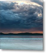 Stunning Cloudy Sunrise Seascape Metal Print
